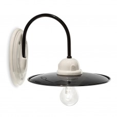 Black & White Porcelain Wall Light