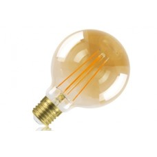 Amber Tint Dimmable LED Filament Globe Small