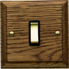 Single Oak Rocker Switch