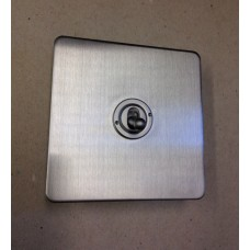 Special Offer - Limited Availability - Single 2w Dolly Switch in Satin Chrome Rounded Edge