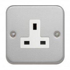 Single 13A Unswitched Socket + Backbox