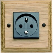 Single 10/16A French socket 2 pin and earth.