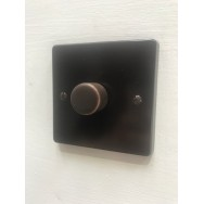 Single dimmer switch, Brown. Choose leading edge or trailing edge for standard and LED bulbs