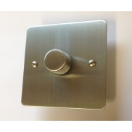 Satin Chrome Single 400W Dimmer **Special Price, Limited Availability**