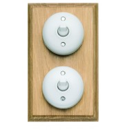 Double 2 way Bakelite switch -  vertical or horizontal.