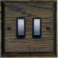 Double Oak Rocker Switch