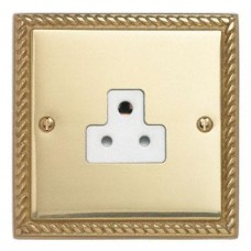 Single 5A 3Pin Unswitched Socket