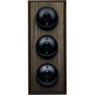 Triple 2 way Bakelite switch- vertical or horizontal