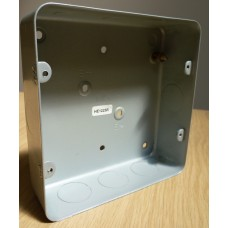 Quadruple metal wall box
