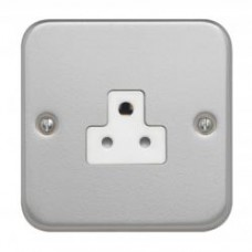 Single 2A Unswitched Socket + Backbox