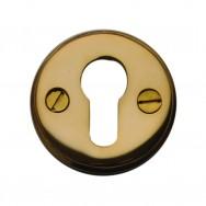 Euro Escutchion Unlacquered Brass