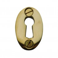 Oval Escutchion Unlacquered Brass