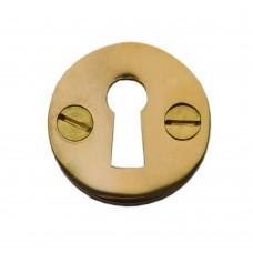 Round Escutchion Unlacquered Brass