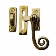 Rat Tail Casement Fastener Unlacquered Brass