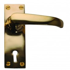 Lever Lock Unlacquered Brass