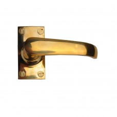Lever Latch Unlacquered Brass (Short plate)