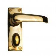 Lever Lock Bathroom Unlacquered Brass