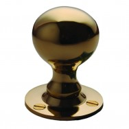 Ball Knob Rimset Unlacquered Brass