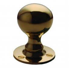 Ball Knob Rimset Unlacquered Brass