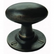 Oval Door Knob Mortice Dark Bronze