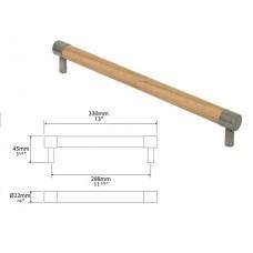 Medium Milton Oak and Genuine Pewter Bar Handle
