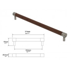 Large American Black Walnut and Genuine Pewter Bar Handle