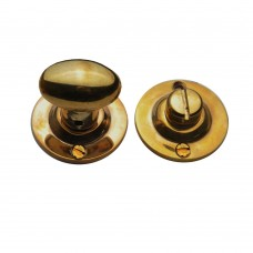 Oval Knob Turn and Release Unlacquered Brass