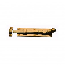 Door Bolt Straight 100mm Unlacquered Brass