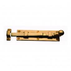Door Bolt Straight 150mm Unlacquered Brass