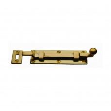 Door Bolt Cranked 150mm Unlacquered Brass