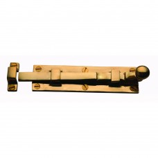 Door Bolt Straight 203mm Unlacquered Brass