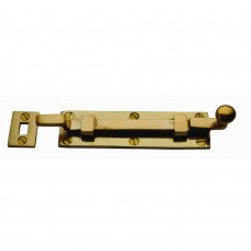 Door Bolt Cranked 203mm Unlacquered Brass
