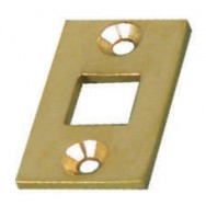 Bolt - Location plate for small bolt in brass