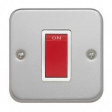 Single 45A DP Cooker Switch + Backbox