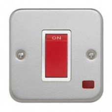 Single 45A DP Cooker Switch with Neon + Backbox