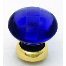 Chequerboard Glass Cupboard Knob