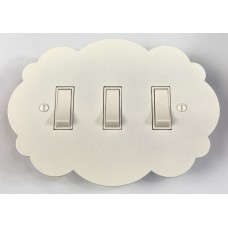 Cloud Shaped Triple Rocker Switch