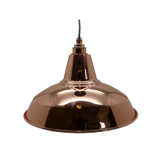 Industrial Pendant Set with Copper Shade and Rose