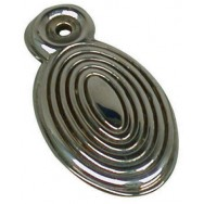 Escutcheon - Beehive in nickel finish