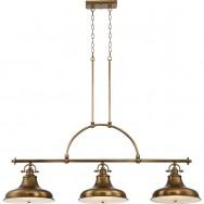 Emery (3Lt) Island Light Weathered Brass