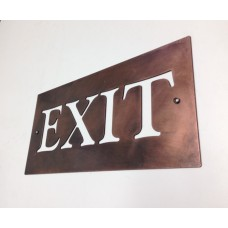 Special Introductory offer - 'Exit' Sign in Plain Forged Copper