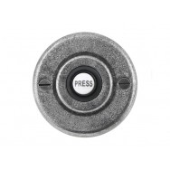 Genuine Pewter Bell Push - Round