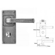 Pewter Lever Handle on Jesmond Bathroom Back Plate **1 available at half price**
