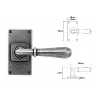 Pewter Lever Handle on Jesmond Short Latch Backplate