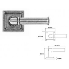 Pewter Lever Handle on Jesmond Rose Backplate