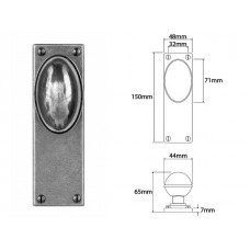 Pewter Door Knob on Latch Backplate