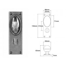 Pewter Door Knob on Bathroom Backplate