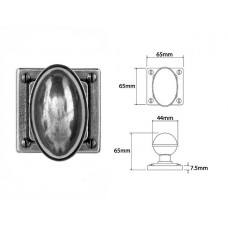 Pewter Door Knob on Jesmond Rose Backplate
