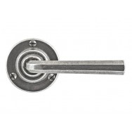 Pewter Rose Lever Handle