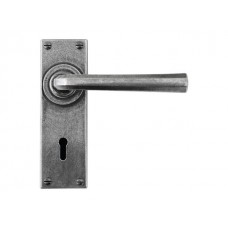 Pewter Lock/Keyhole Lever Handle (sprung)